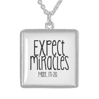 """Expect Miracles"" SS Square Necklace"