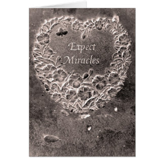 Expect Miracles with Scripture Promise inside Card