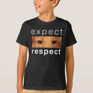Expect Respect QR for Dogs T-Shirt