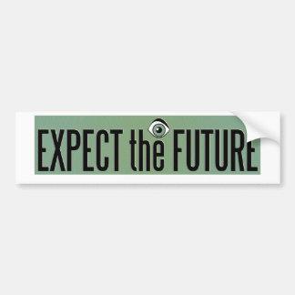 Expect The Future Logo Car Bumper Sticker