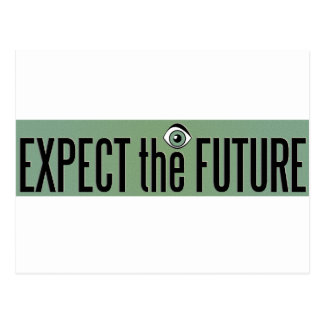 EXPECT THE FUTURE LOGO POSTCARD