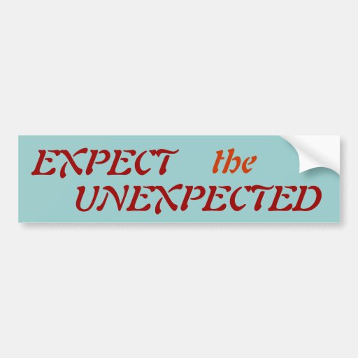 EXPECT, the, UNEXPECTED - Customized Bumper Sticker