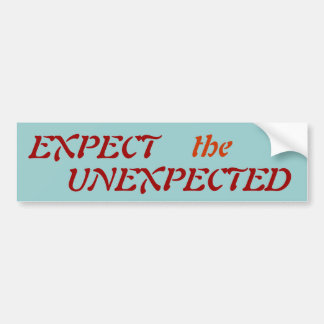 EXPECT, the, UNEXPECTED - Customized Car Bumper Sticker