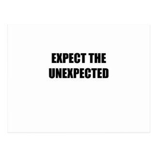 Expect the Unexpected Postcard