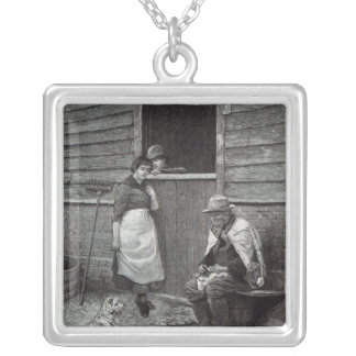Expectancy, from 'Leisure Hour', 1888 Silver Plated Necklace