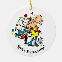 Expectant Couple, Super Boy, Cat Ornament