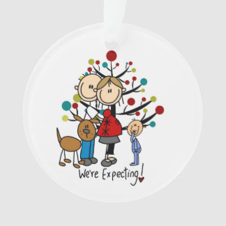 Expectant Couple Toddler Boy Acrylic Ornament