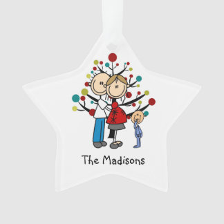 Expectant Couple Toddler Boy Christmas Ornament