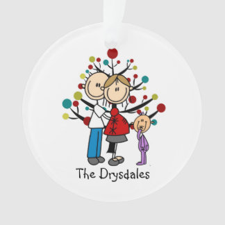 Expectant Couple Toddler Girl Christmas Ornament