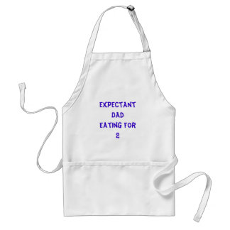 Expectant Dad Eating for2 Adult Apron