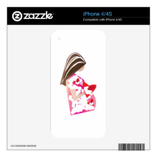 Expectant Mom Decal For The iPhone 4S