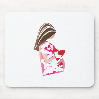Expectant Mom Mouse Pad