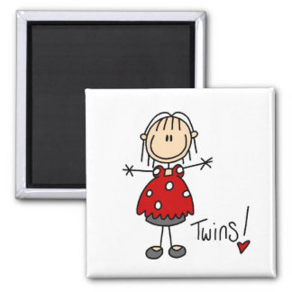 Expectant Mom of Twins Tshirts and Gifts 2 Inch Square Magnet