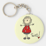 Expectant Mom of Twins Tshirts and Gifts Key Chain