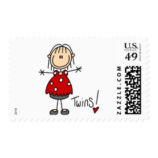Expectant Mom of Twins Tshirts and Gifts Postage Stamp