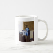 Expectant Mother Reading a Letter Coffee Mug