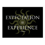 Expectation = Experience Postcards
