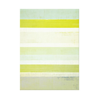 'Expectation' Grey and Yellow Abstract Art Canvas Print