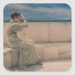 Expectations, 1885 (oil on canvas) square stickers