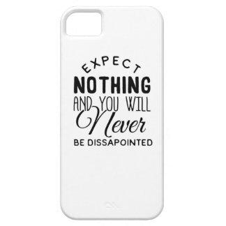 Expectations Quote Design iPhone SE/5/5s Case