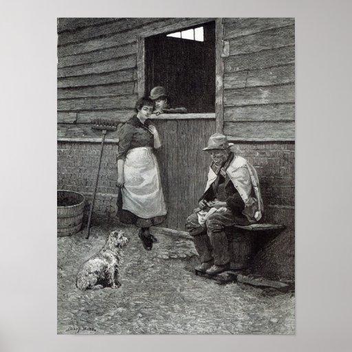 "Expectativa, a partir de la ""hora del ocio"", 1888 poster"