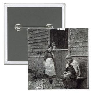 """Expectativa, a partir de la """"hora del ocio"""", 1888 pin cuadrado"""
