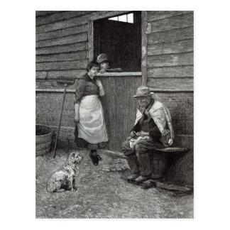 "Expectativa, a partir de la ""hora del ocio"", 1888 postal"