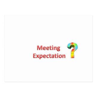 expectativa de la reunión tarjetas postales