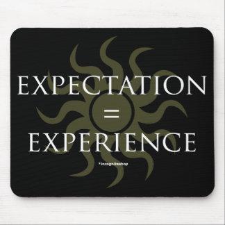 Expectativa experiencia tapetes de ratones