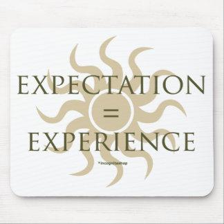 Expectativa experiencia alfombrilla de ratón
