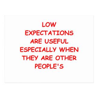 expectativas bajas postal