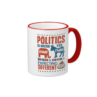 Expectativas políticas taza a dos colores