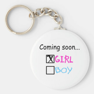 Expecting A Baby Girl Key Chains
