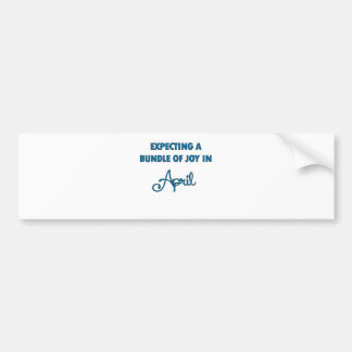 Expecting a bundle of joy in April  blue.png Bumper Sticker