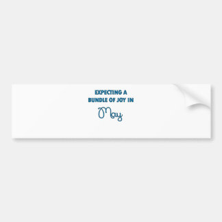 Expecting a bundle of joy in May  blue.png Bumper Sticker