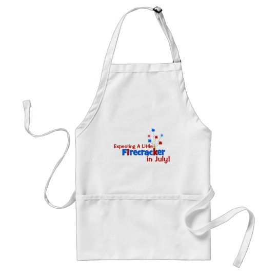 Expecting A Little Firecracker in July Adult Apron