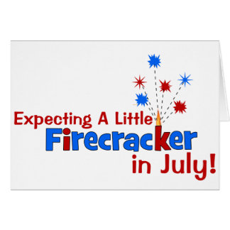 Expecting A Little Firecracker in July Cards