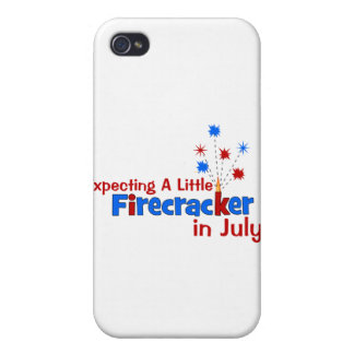 Expecting A Little Firecracker in July iPhone 4 Covers