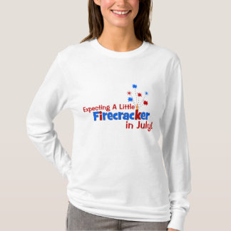 Expecting A Little Firecracker in July T-Shirt