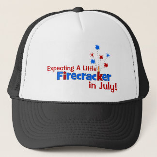 Expecting A Little Firecracker in July Trucker Hat
