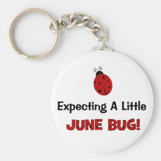 Expecting A Little June Bug Maternity Keychain