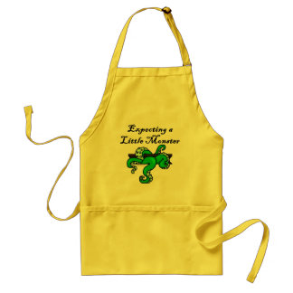Expecting a little monster adult apron