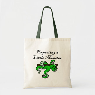 Expecting a little monster budget tote bag
