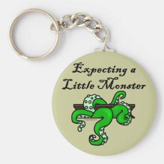 Expecting a little monster keychain