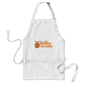 Expecting A Little Pumpkin In October Adult Apron