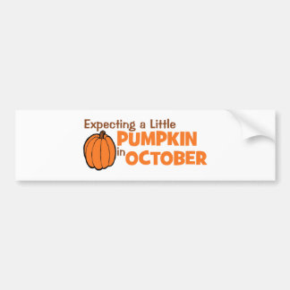 Expecting A Little Pumpkin In October Bumper Stickers