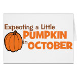 Expecting A Little Pumpkin In October Greeting Cards