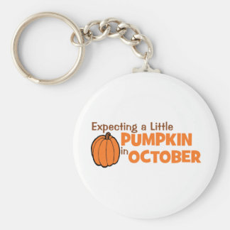 Expecting A Little Pumpkin In October Keychain