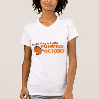 Expecting A Little Pumpkin In October T Shirts