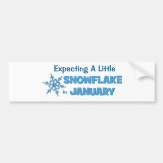 Expecting A Little Snowflake in January Maternity Bumper Stickers